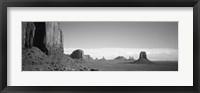 Framed Rock Formations, Monument Valley, Arizona, USA (black & white)