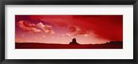 Framed Storm clouds over a landscape, Utah, USA