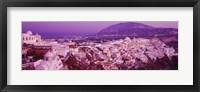 Framed Fira at dusk, Santorini, Greece
