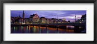 Framed River Limmat Zurich Switzerland