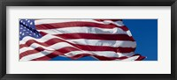 Framed Close-up of an American flag fluttering, USA