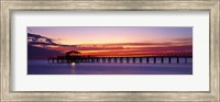 Framed Sunset Mobile Pier AL USA
