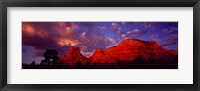 Framed Rocks at Sunset Sedona AZ USA