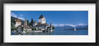 Framed Oberhofen Castle w\ Thuner Lake Switzerland