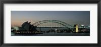 Framed Opera House & Harbor Bridge Sydney Australia