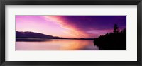 Framed Sunset Jackson Lake Grand Teton National Park WY USA