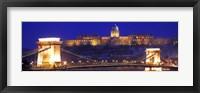Framed Chain Bridge, Royal Palace, Budapest, Hungary