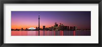Framed Reflection of buildings in water, CN Tower, Toronto, Ontario, Canada