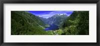 Framed Geirangerfjord, Flydalsjuvet, More Og Romsdal, Norway