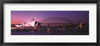 Framed Opera House Harbour Bridge Sydney Australia