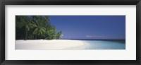 Framed White Sand Beach Maldives