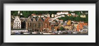 Framed Boats on the Water, Bergen, Norway