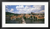 Framed Aerial view of Charles Bridge Prague Czech Republic