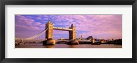 Framed Tower Bridge London England with Purple Sky