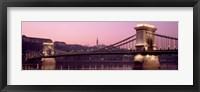 Framed Hungary, Budapest, Szechenyi Lanchid