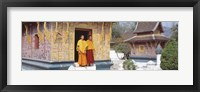 Framed Monks Wat Xien Thong Luang Prabang Laos