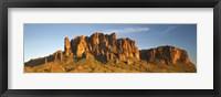 Framed Superstition Mountains, Arizona, USA