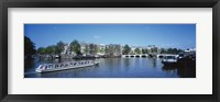 Framed High angle view of a ferry in a lake, Amsterdam, Netherlands