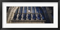 Framed Low angle view of statues on a railroad station building, Gare Du Nord, Paris, France