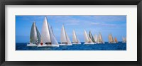 Framed Yachts in the ocean, Key West, Florida, USA