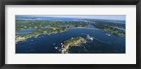 Framed Aerial view of an island, Newport, Rhode Island, USA