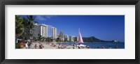 Framed Waikiki Beach Oahu Island HI USA