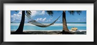 Framed Hammock on the beach, Cook Islands South Pacific