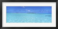 Framed Island in the ocean, Maina, Cook Islands