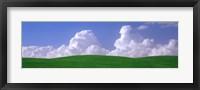 Framed USA, Washington, Palouse, wheat and clouds