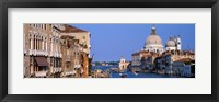 Framed Buildings Along the Grand Canal, Venice Italy