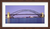 Framed Bridge across a sea, Sydney Harbor Bridge, Sydney, New South Wales, Australia