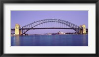 Framed Bridge across a sea, Sydney Harbor Bridge, Sydney, New South Wales, Australia
