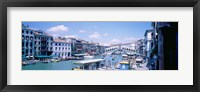 Framed Rialto and Grand Canal Venice Italy