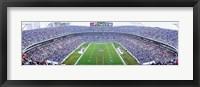 Framed NFL Football, Ericsson Stadium, Charlotte, North Carolina, USA
