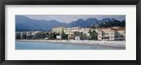 Framed Hotels On The Beach, Menton, France