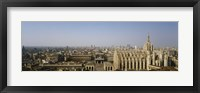 Framed Aerial view of a cathedral in a city, Duomo di Milano, Lombardia, Italy