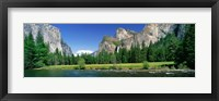 Framed Bridal Veil Falls, Yosemite National Park, California, USA