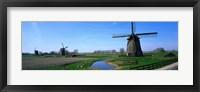 Framed Windmills near Alkmaar Holland (Netherlands)
