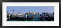 Framed Church of San Giorgio Maggiore and Gondolas Venice Italy