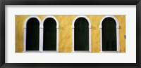 Framed Windows in Yellow Wall Venice Italy