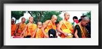 Framed Buddhist Monks Luang Prabang Laos