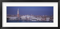 Framed Aerial View Of A City Along A Canal, Venice, Italy