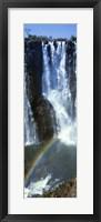 Framed Victoria Falls Zimbabwe Africa (vertical)