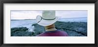 Framed Man with Straw Hat Galapagos Islands Ecuador