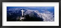 Framed View of Christ the Redeemer and Rio De Janeiro, Brazil