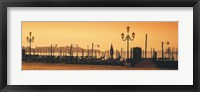 Framed Venice, Italy Pier with Orange Sky