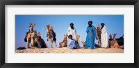 Framed Tuareg Camel Riders, Mali, Africa