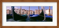 Framed Close-Up of Gondolas, Grand Canal, Venice, Italy