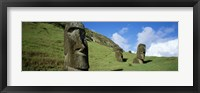 Framed Stone Heads, Easter Islands, Chile