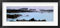 Framed People In The Hot Spring, Blue Lagoon, Reykjavik, Iceland